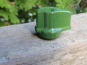 ANTIQUE ON OFF ELECTRICAL GREEN PORCELAIN LIGHT SWITCH $10.50