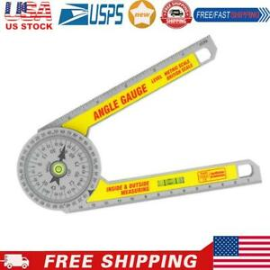 360 Degree Miter Saw Protractor w Leveling Bubble Angle Finder Gauge Ruler $8.75