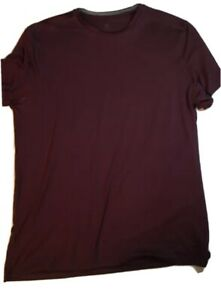 Champion Dry Fit Shirt Size Large Tall Fitted Black Short Sleeve Maroon $9.99