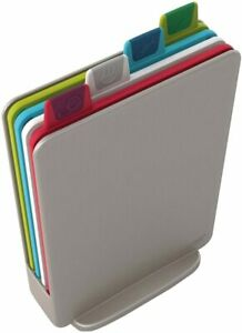Index Cutting Board Set with Storage Case Plastic Color Coded Dishwasher Safe