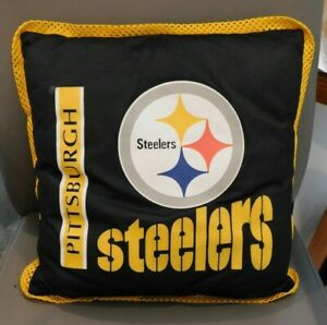Pittsburgh Steelers OOAK Pillow 16quot; Square for Sofa Bed Dorm Room NWOTxzAZZ $18.00