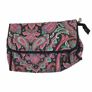 Mary Kay Cosmetic Bag With Mirror Soft Case Zipper Closure Multicolored