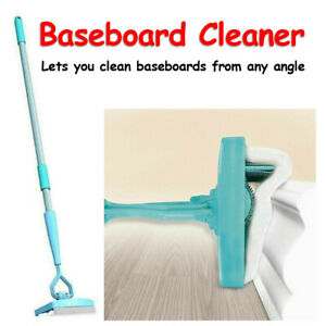 Baseboard Buddy Cleaning Mop Walk Glide Extendable Microfiber Dust Cleaner Brush $11.99