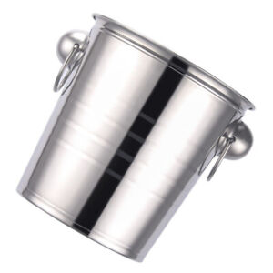Metal Ice Bucket Thick Ice Holder Container Bar Party Champagne Wine