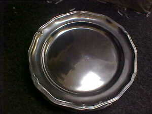 Wilton Armetale Queen Anne Glossy 12 Service Plates Set Of 5 Pewter $99.95