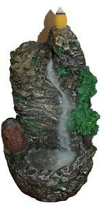 Backflow Incense Burner Chinese Mountain Rock Waterfall Incense Holder 10 Cones $21.94