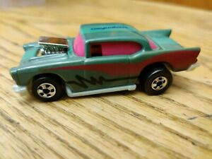 Vintage Hot Wheels #x27;57 Chevy Convertables Green Pink Black 1990 Malaysia Loose
