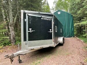 Stealth Apache Enclosed Trailer Fully insulated Finished Interior lights
