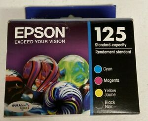 Epson GENUINE 125 Black amp; Color Ink 4 Pack NEW FREE SHIPPING