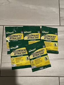 Lot Of 5 20 Weeks Rescue Yellow Jacket Trap Attractant Refills 4 Week Supply