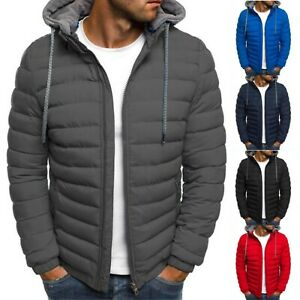 Mens Hoodie Bubble Coat Padded Puffer Jacket Winter Warm Quilted Casual Outwear $40.46