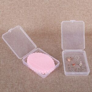 1pc Clear Plastic Small Box Hook Jewelry Earplugs Container Storage Gadgets $6.03