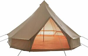 Outop Breathable 4 Season Canvas Bell Tent with Detachable Zipped Groundsheet
