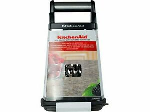 KitchenAid Gourmet 4 Sided Stainless Steel Box Grater w Storage Container det.