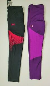 Girls Under Armour Cold Gear Leggings Pants size XL xlarge YXL lot of 2 $25.00