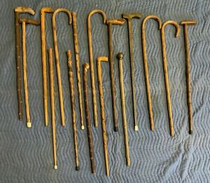 Vintage Wooden Canes Walking Sticks Lot Of 16 Various Styles Make An Offer $250.00
