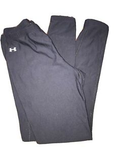 Womens Under Armour Cold Gear Fitted Stretch Lined Black Leggings Size Large $18.00