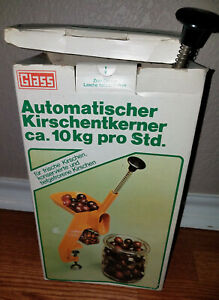 Glass Automatic Cherry Pitter Stoner Table Mount Model #61 made in W.Germany