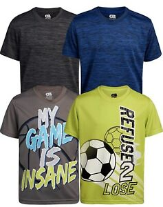 Only Boys Performance Dry Fit T Shirts 4 Pack $25.00
