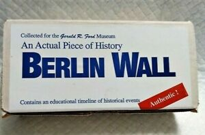 Real Piece of Berlin Wall New in Original Box w Certification of Authenticity $22.00