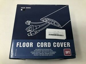 Floor Cable Cover 5 Foot Black Floor Cord Cable Protector $14.08