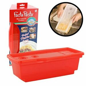 Microwave Pasta Cooker The Original Fasta Pasta Red No Mess Sticking or