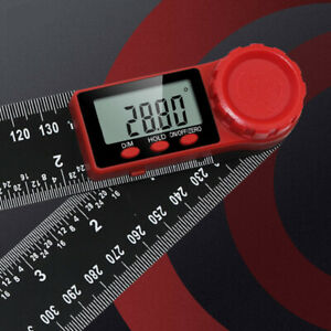 360° Portable LCD Digital Protractor Angle Finder 8in Measure Ruler With battery $20.49