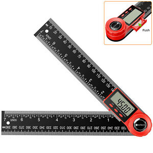 LCD Digital Angle Finder Ruler 8Inch Protractor Measure Tools 0 360° Angle Gauge $19.99