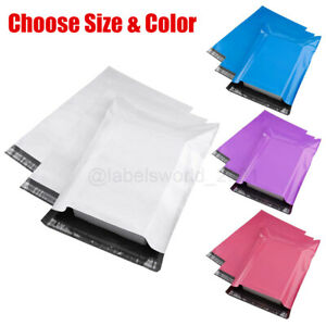 100 Poly Mailers Shipping Envelopes Self Sealing Mailing Bags Choose Size Color $12.95