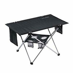 Outdoor Folding Table with Cup Holders Foldable Portable Tables with Carry Bag $45.99