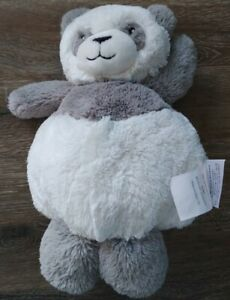 Little Miracles PANDA BEAR Gray White 13quot; Plush Round Chubby Costco Lovables