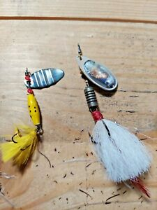 Old lures two great old spinners for trout and salmon fishing mepps #3 unknown