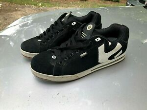 Etnies Angle Black amp; White Suede Size 12 Used Skateboard Shoes $43.00