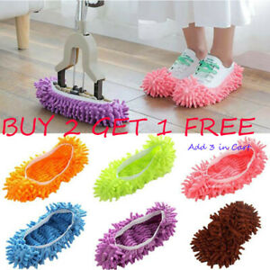 HOT Lazy Dust Mop Slippers Floor Polishing Cleaning Washable Socks Shoes House
