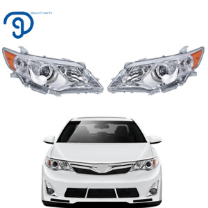 Clear LeftRight Projector Headlights Headlamps For 12 14 Toyota Camry Pair $125.07