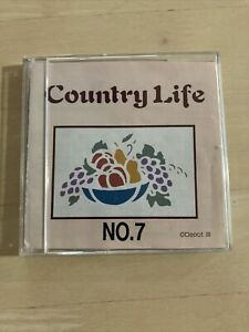 Brother machine embroidery PES memory card #7 country life and stencil designs $24.99