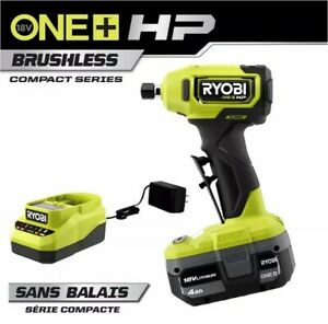 RYOBI 18V Compact 1 4in Right Angle Die Grinder Kit w 4.0 AH Battery amp; Charger C $449.99