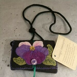 Felted Wool Sewing Case Primitive Handmade Gift Under $10.00 $9.95