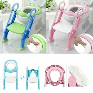 Kids Trainer Toilet Potty Training Seat Baby Toddler Chair Padded Seat Ladder $35.99