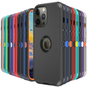 For iPhone 13 Mini 13 Pro Max 12 11 XR Case Heavy Duty Shockproof Rugged Cover $7.99