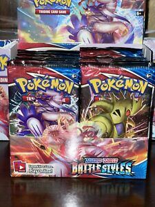10 Battle Styles Booster Pack Lot From Factory Sealed Pokemon Booster Box $40.00