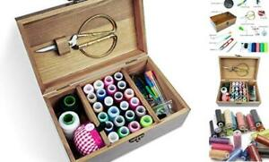 Wooden Sewing Kit Sewing Boxes Organizer with Accessories Wooden Sewing Kits $25.46