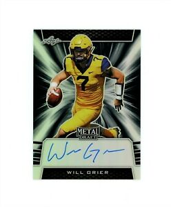 2019 Leaf Metal Draft WILL GRIER RC Rookie Cowboys On Card Auto Black # 15 MINT $39.99
