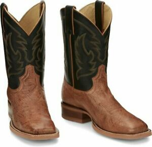 JUSTIN MCLANE SMOOTH OSTRICH COGNAC BOOT MENS WESTERN JE801