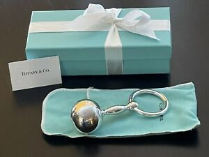 Tiffany amp; Co vintage barbell baby rattle