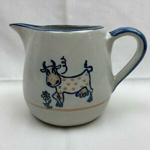 Louisville Stoneware Kentucky Hand Painted Cow Pitcher Polka Dot Cow $19.99