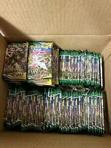 10 Evolving Skies Booster Pack Lot From Factory Sealed Pokemon Booster Box $63.00