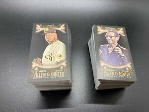 2021 Topps ALLEN GINTER X MINI BLACK YOU PICK COMPLETE YOUR SET $1.99