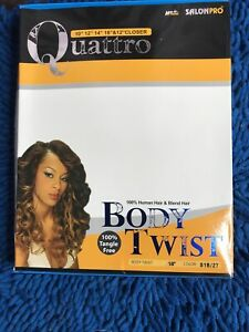Hair Trend SALONPRO ALL in ONE Body Twist 5 Pc Weave closer Real Hair Feel $12.35