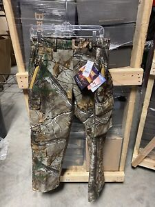 Gamehide Mens Camo Hunting 9CP Realtree Extra Slammer Pants Size Large